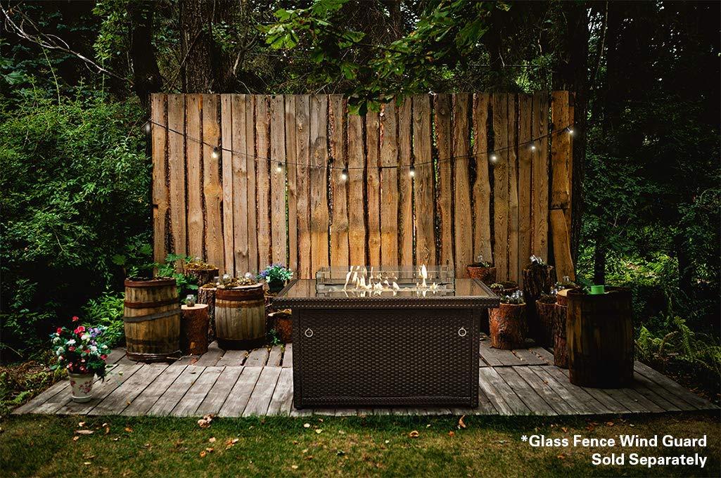 Mesa con fogata Outland, marco de aluminio, fuego de propano, con ...