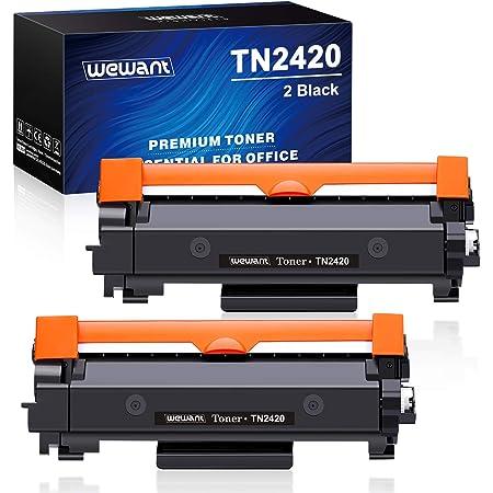 Wewant Toner TN-2420 TN2410 Remplacement pour Brother TN2420 Cartouche de toner Compatible avec Brother DCP-L2510D L2530DW L2550DN,MFC-L2710DN L2730DW L2750DW,HL-L2310D L2350DW L2370DN L2375DW,2 Noir
