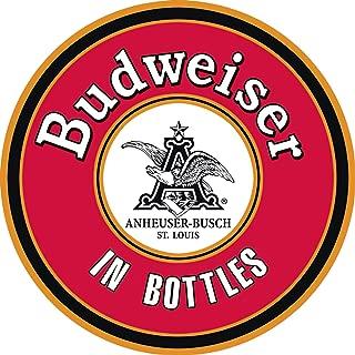Desperate Enterprises Budweiser in Bottles Round Tin Sign, 11.75