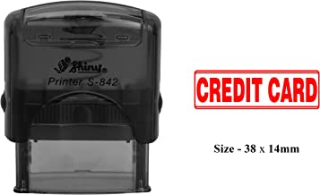 CREDIT CARD Rubber Stamp Clear Print For Office Use Shiny S-842 Self-Inking Stamp