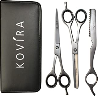 Hair scissors - 6.5 inch Hairdressing Scissors with Case- Barber Hairdresser Scissors and Thinning Shears/Cutting Scissors Set with Razor
