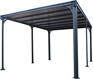 Palram Milano 4300 Garden Gazebo - Aluminum Structure & Flat Hardtop - Ideal as Patio Cover or Outdoor Awning for Year-Rou...