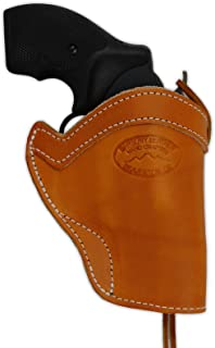 Barsony New Saddle Tan Western Style Leather Holster for Snub-Nose or 2
