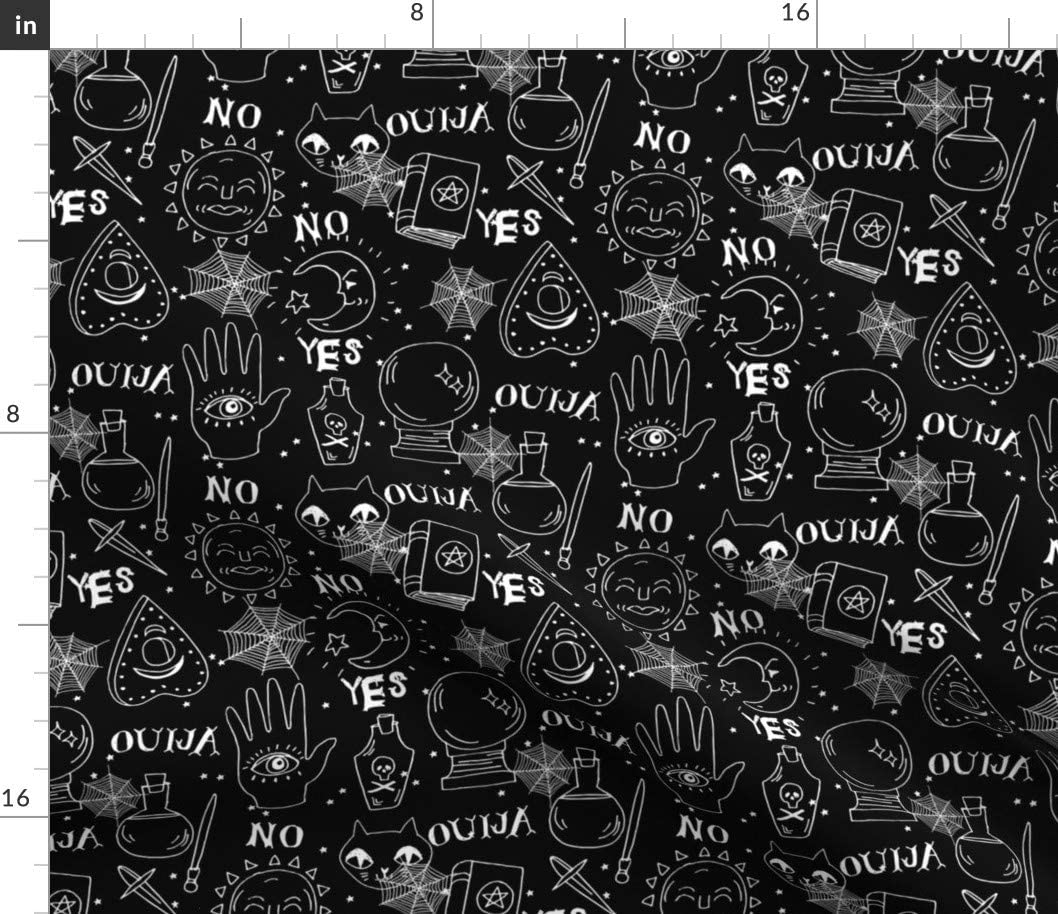 Spoonflower Factory outlet Fabric - Ouija Halloween October Whi Black Fall Max 51% OFF