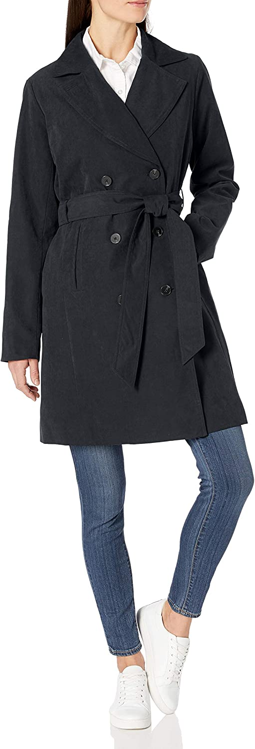 Amazon Essentials Women's Relaxed-Fit Water-Resistant Trench Coat