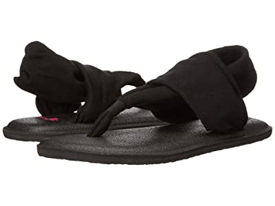 Sanuk Kids Yoga Sling Burst (Little Kid/Big Kid) (Black) Girls Shoes