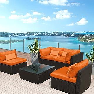 Cool Amazon Com Orange Patio Furniture Sets Download Free Architecture Designs Momecebritishbridgeorg