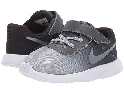 Nike Kids Tanjun Print (TD) (Infant/Toddler) (Oil Grey/Metallic Cool Grey/Dark Grey/White) Boys Shoes