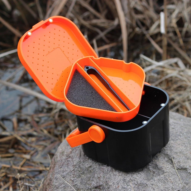 LuxBene(TM)クリップ付きダブルレイヤー10 * 10 * 7.5センチメートルミミズワームベイトルアー釣りタックルボックスプラスチック5コンパートメント