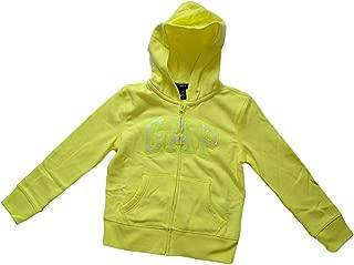 GAP Girls Zip up Fleece Arch Logo Hoodie