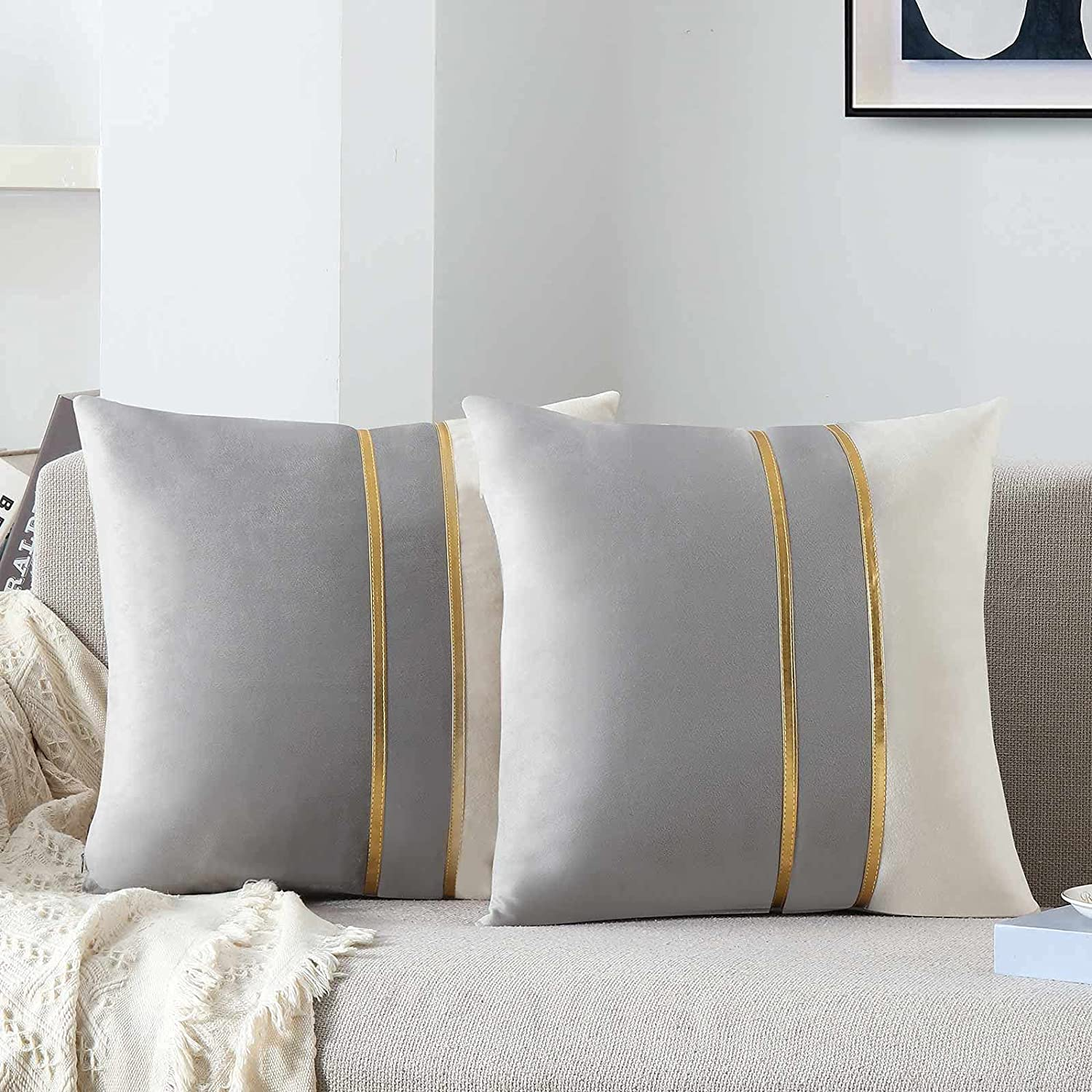WACOMECO Velvet Throw Pillow Covers Decorative Cushion Soft New Shipping Free Co - Shipping included