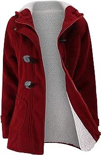 Howme-Women Thicken Classic Hoodie Plus Velvet Merino Trench Coat Raincoat