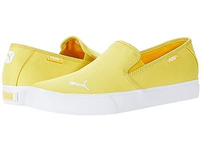 PUMA Bari Slip-On Cat (Super Lemon/Puma White) Women