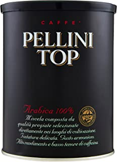 Pellini Caffè - Pellini Top Arabica 100% Per Moka, 2 Barattoli da 250gr (Totale 500gr)