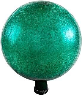 Achla Designs G12-EG-C Gazing, Emerald Green 12 inch Glass Garden Globe Ball Sphere, 12
