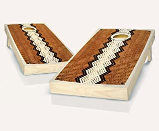 Retro Xango Stained Custom Cornhole Boards Regulation Size Game Set Baggo Bean Bag Toss + 8 ACA Regulation Bags