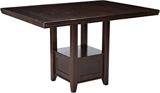 Signature Design By Ashley - Haddigan Rectangular Dining Room Counter Extention Table - Casual Style - Dark Brown