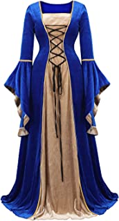 Renaissance Costume Women Medieval Dress Halloween Cosplay Costumes