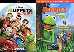 Frog Left the Swamp the Muppets Double Feature Kermit Green The Swamp Years Movie + The Most Wanted Jim Henson DVD Miss Pi...