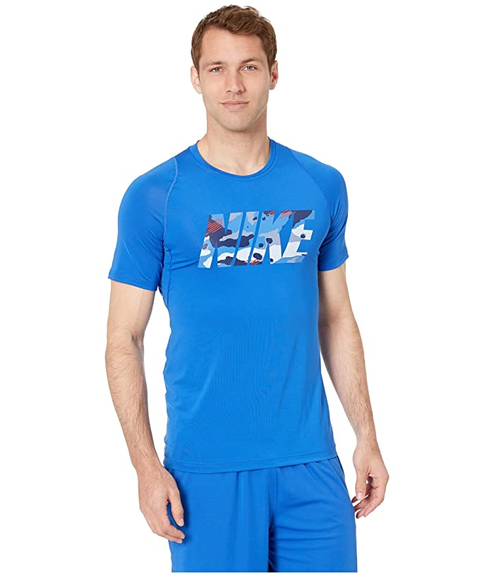 Nike Pro Top Short Sleeve Fitted 2 Layer Camo (Game Royal) Men