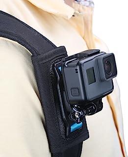 TELESIN Compatible Backpack Shoulder Strap Mount for Camera, Adjustable Shoulder Pad & Strap Holder Attached for GoPro Her...