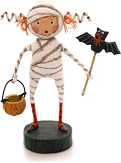 Lori Mitchell MINNIE MUMMY Polyresin Bat Pumpkin Halloween 11051