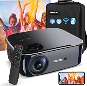Projector,WiFi Bluetooth Projector Native 1080P/4K Projector,10000L Movie Projector,Full HD Video Projector,LED/LCD Home&Outdoor Movie Theater, 300