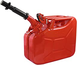 Wavian USA JC0010RVS Authentic NATO Jerry Fuel Can and Spout System Red (10 Litre)