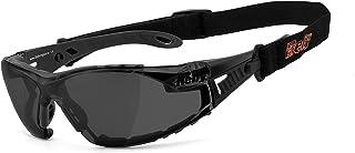 HELLY - No.1 Bikereyes   Bikerbrille, Motorrad Sonnenbrille, Motorradbrille   beschlagfrei, winddicht, bruchsicher, Polster & Band   TOP Tragegefühl   Brille: moab 5