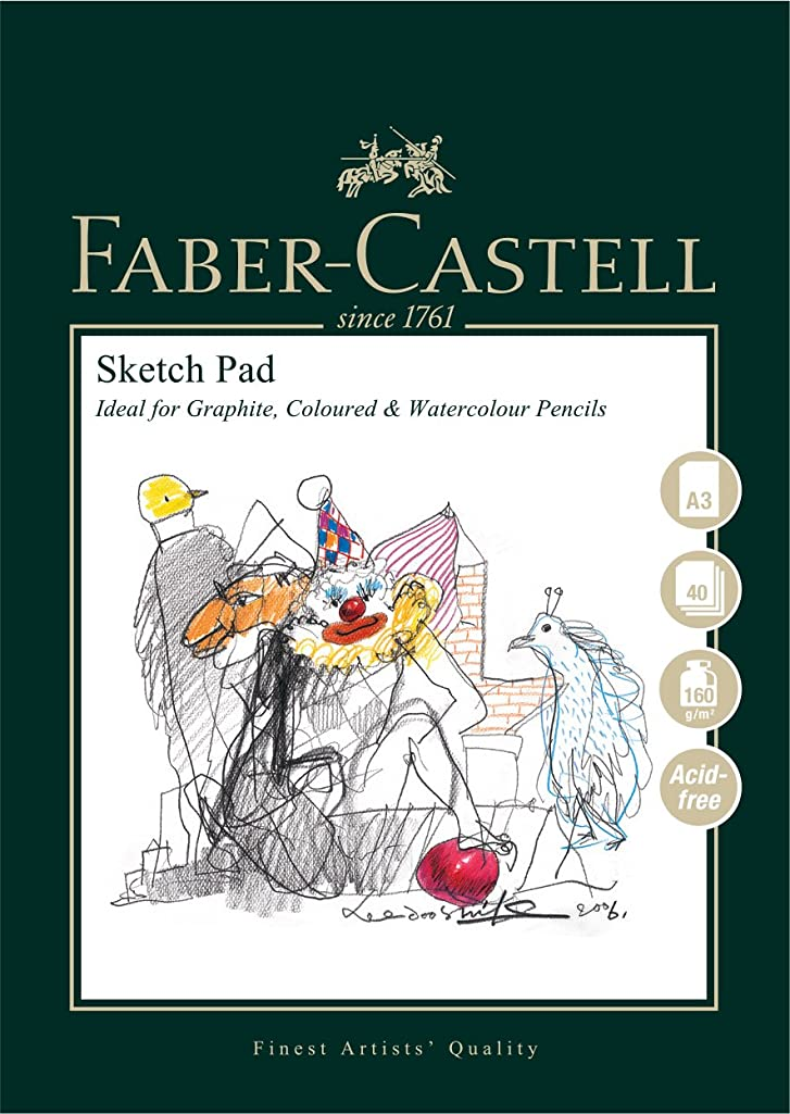 Faber-Castell Art & Graphic Sketch Pad, A3 160 GSM Pad of 40 Sheets