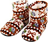 HCFKJ Women Ladies Cotton Boots Winter Warm Indoor Slippers Soft Plush Christmas Socks Teens Girls