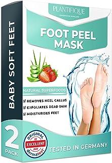 Foot Peel Mask - Strawberry Feet Peeling Mask 2 Pack - Dermatologically Tested, Cracked Heel Repair, Dead Skin Remover for...