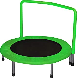 JumJoe Ⓡ Trampoline for Kids with Handrail – Safety and Durable (Green)