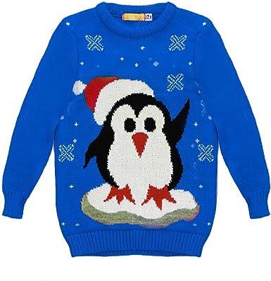 Fashion Oasis Unisex Girls Boys Christmas Xmas Novelty Olaf Snowman Reindeer Xmas Tree Polar Bear Jumpers TOP Ages 3-14
