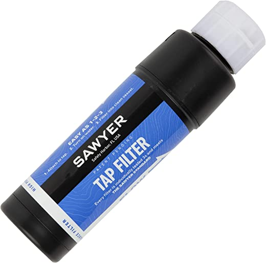 Sawyer Products SP134 TAP Water Filtration System, Fits Faucets & Hose Bibs, Blue (one Size)