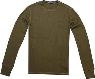 Mens T-Shirt Waffle Knit Long Sleeve Tee