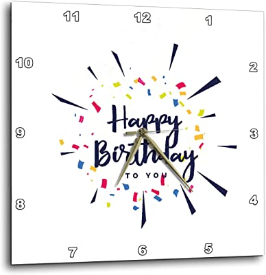 3dRose Sven Herkenrath Birthday - Happy Birthday to You with White Background Funny Gift - 15x15