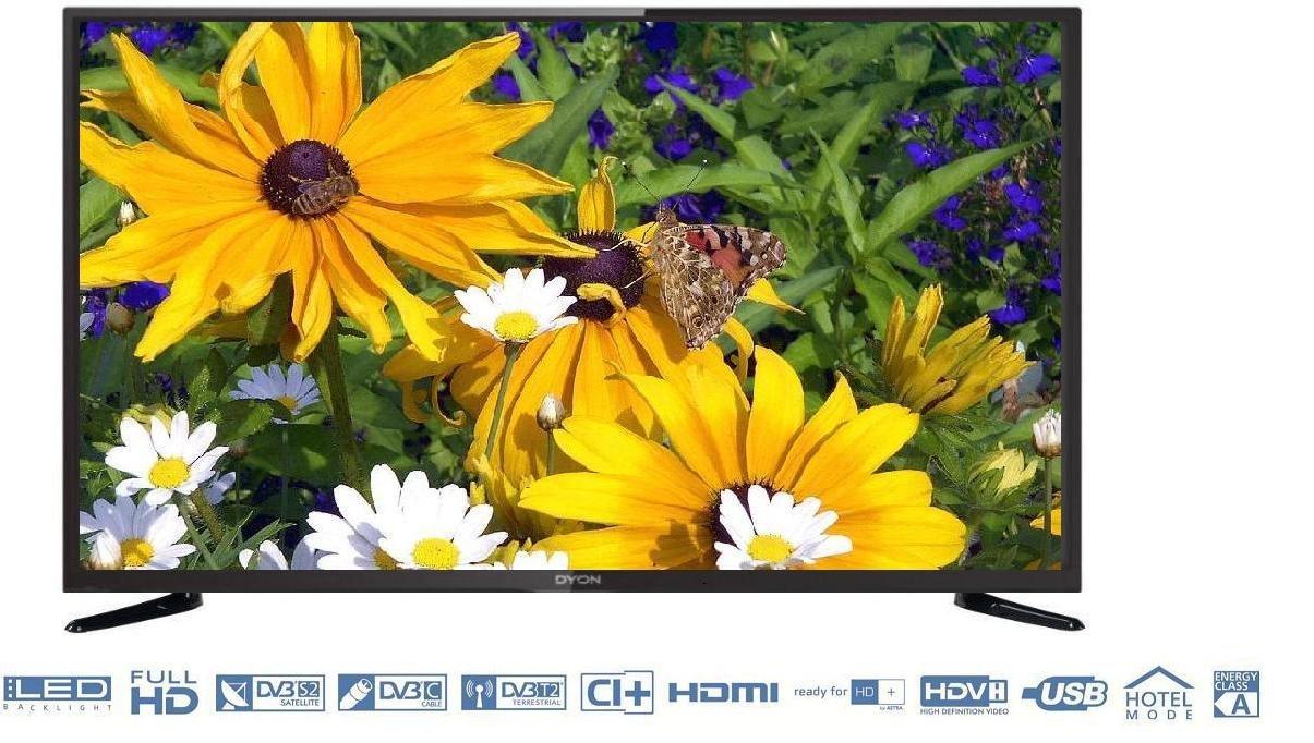 41 pulgadas Full HD LED de televisor Dyon Movie 40, diagonal de 105 cm, con triple sintonizador incorporado, recibe señales de satélite, cable, DVB-T y DVB-T2 sin adicional Receptor: Amazon.es: Electrónica