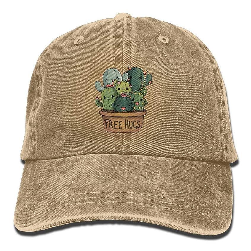 魔術師機知に富んだ歯痛ヴィンテージコットンデニムキャップ野球帽CactFree抱擁6パネル調節可能なトラック運転手お父さん帽子