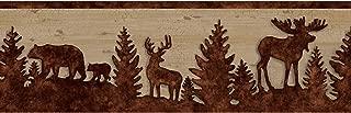 Chesapeake TLL35711B Shawnee Silhouettes Wallpaper Border, Chestnut