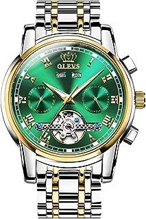Men Watch Top Brand Luxury Automatic Mechanical Watch,Day Date Automatic Watch Men,Self Wind Men Luminous Waterproof Stainless Steel Watch Green/Blue/Black Face
