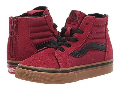 Vans Kids Sk8-Hi Zip (Infant/Toddler) ((Gumsole) Biking Red/Gum) Boys Shoes