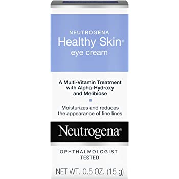 Neutrogena Healthy Skin Anti-Wrinkle Eye Cream with Alpha Hydroxy Acid (AHA), Vitamin A and Vitamin B5 - Firming Under-Eye Cream for Wrinkles and Fine Lines, 0.5 oz