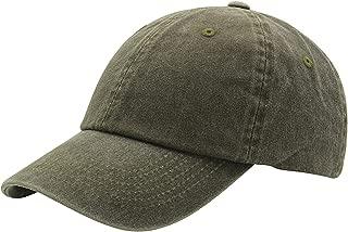 Baseball Cap Men Women Hat - Unisex 100% Cotton Plain Pigment Dyed