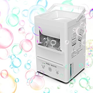 Portable Bubble Machine for Kids, Automatic Bubble Blower Rechargeable Bubble Maker Toy With Built-in 5000mAh Battery, 360° Auto Oscillation, 3000+ per Min, 3 Speed Levels for Party Birthday Outdoor