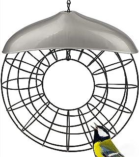 Queen.Y Hängande fågelmatare, vindtät fågelmatare för utomhus inuti cirkeln fågelmatare metall för utomhus vilda fåglar de...