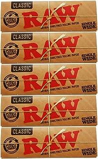 raw classic paper ロー クラシックペーパー 手巻き用シングル70ミリ 5.10.20個セット (5個セット)