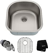 Kraus KBU15 20 inch Undermount Single Bowl 16 gauge Stainless Steel Kitchen Sink