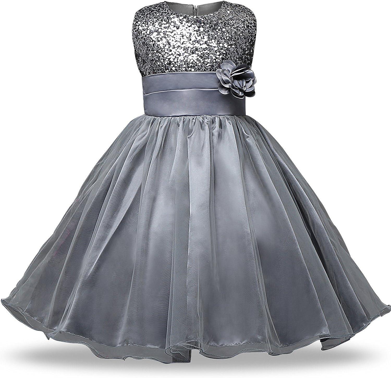 FuDaBang Baby Girls Princess Tutu Sequins Max 86% OFF Dresses Superlatite Flower