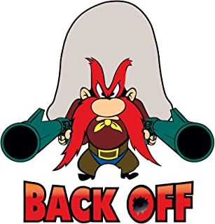 Yosemite Sam Back Off 5 Sizes Vinyl Decal Sticker Car Patch Wall Banner